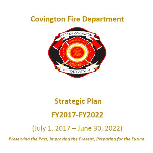 CFD Strategic Plan Cover with logo and light brown text